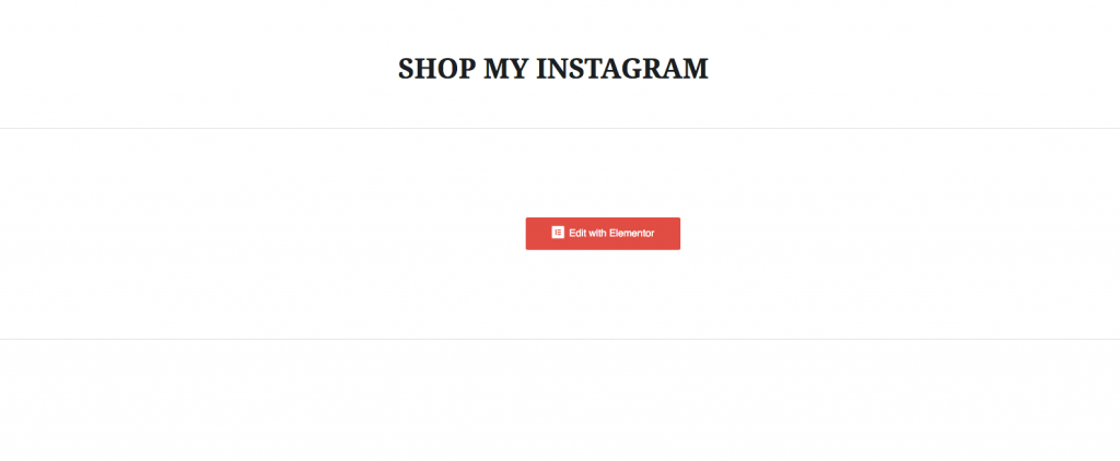 How create a shop my instagram page on website
